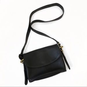 Coach Equestrian Small Flap Bag Vintage Black